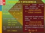 potencia y eficiencia