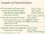 examples of clustered indexes