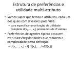 estrutura de prefer ncias e utilidade multi atributo