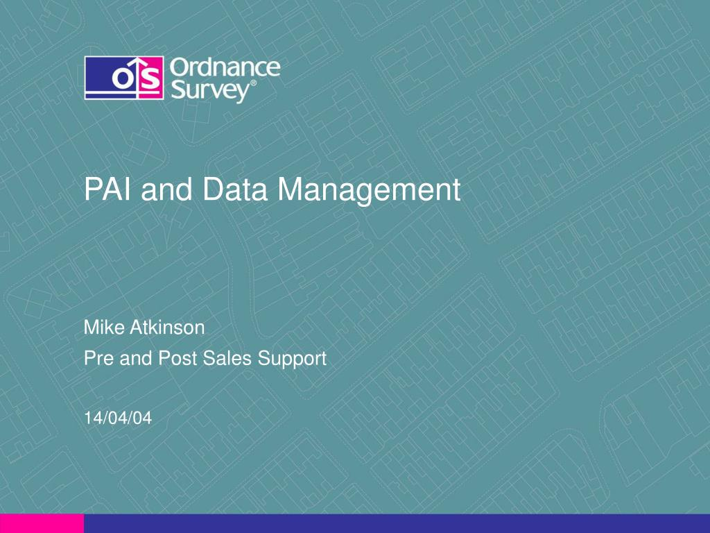 pai and data management l.