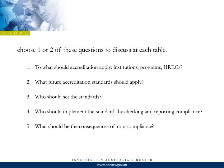 choose 1 or 2 of these questions to discuss at each table.