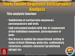 tools enable sequence stratigraphic analysis
