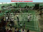 district level manpower