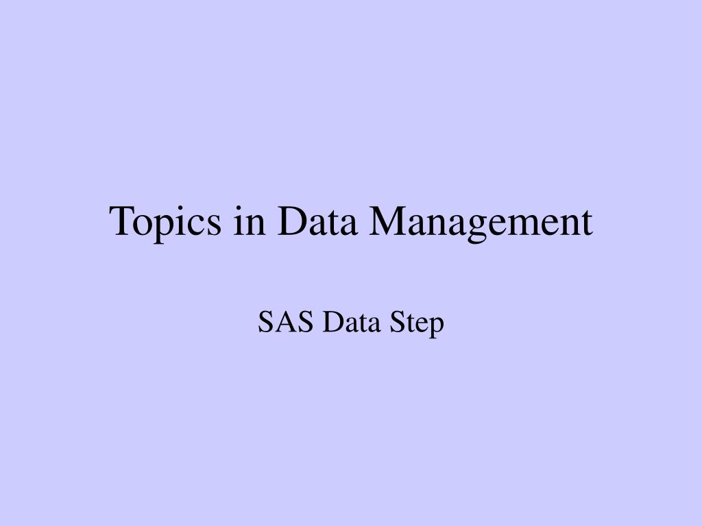 topics in data management l.