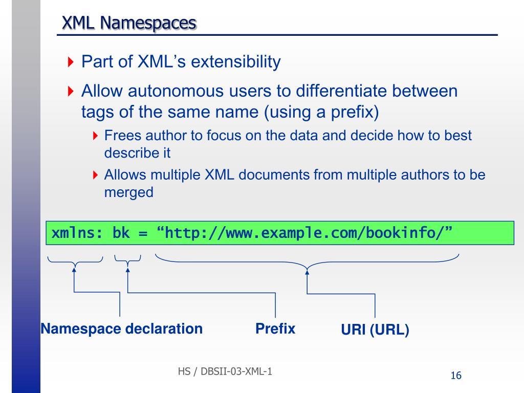 "xmlns: bk = ""http://www.example.com/bookinfo/"""