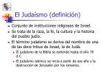 el juda smo definici n