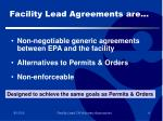 facility lead agreements are