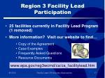 region 3 facility lead participation