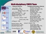 multi disciplinary cmcs team