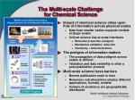the multi scale challenge for chemical science