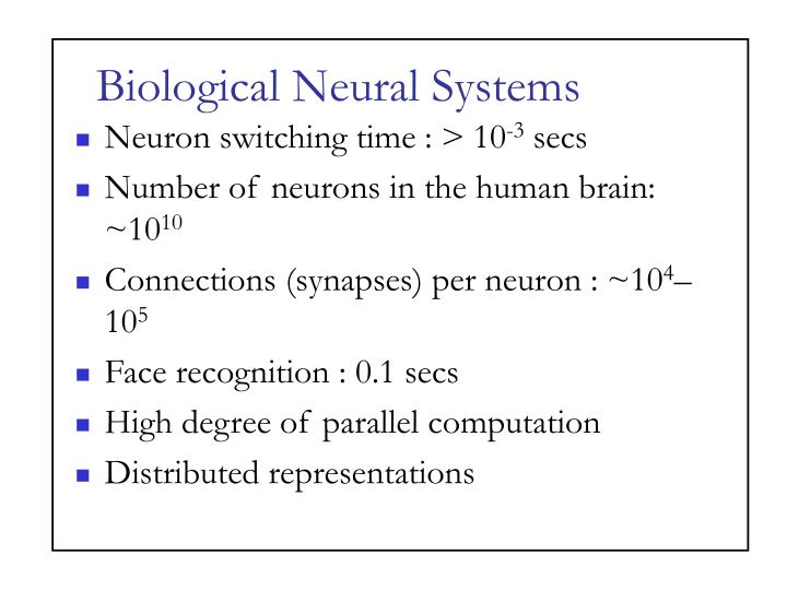 Biological neural systems