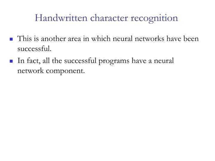 Handwritten character recognition