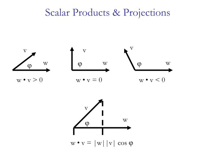 Scalar Products & Projections