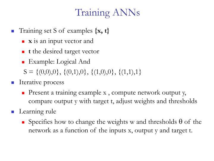 Training ANNs