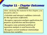 chapter 11 chapter outcomes continued