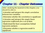 chapter 11 chapter outcomes