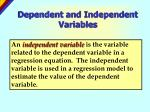 dependent and independent variables1