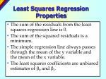least squares regression properties