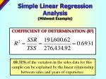 simple linear regression analysis midwest example1