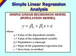 simple linear regression analysis1