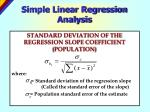 simple linear regression analysis19