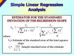 simple linear regression analysis21