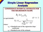 simple linear regression analysis25