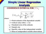 simple linear regression analysis26
