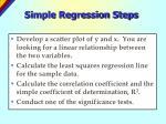 simple regression steps