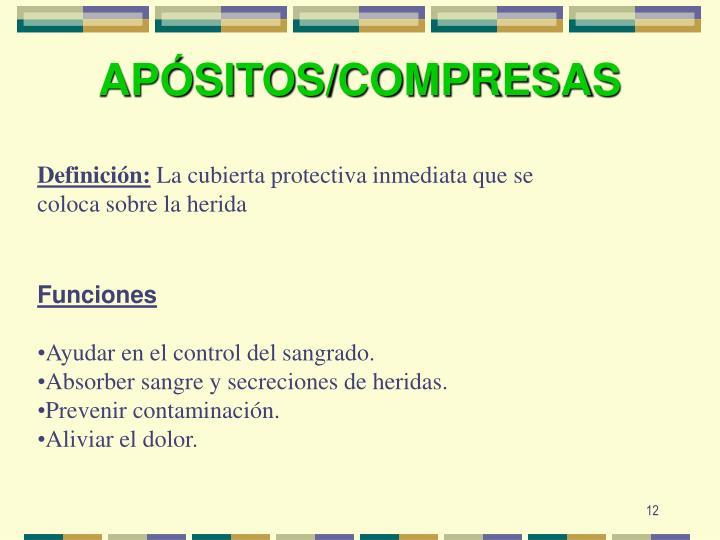 APÓSITOS/COMPRESA