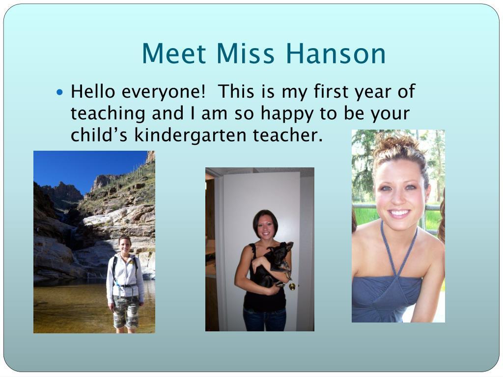 Meet Miss Hanson