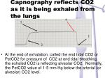 capnography reflects co2 as it is being exhaled from the lungs