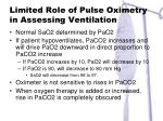 limited role of pulse oximetry in assessing ventilation