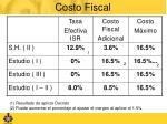 costo fiscal