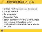 misma formula a b c