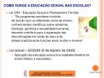 como surge a educa o sexual nas escolas