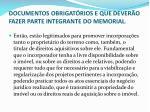 documentos obrigat rios e que dever o fazer parte integrante do memorial1