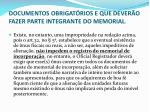 documentos obrigat rios e que dever o fazer parte integrante do memorial3