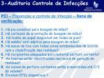 3 auditoria controle de infec es