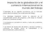 impacto de la globalizaci n y el comercio internacional en le mundo del trabajo