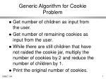 generic algorithm for cookie problem