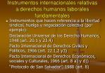 instrumentos internacionales relativas a derechos humanos laborales fundamentales
