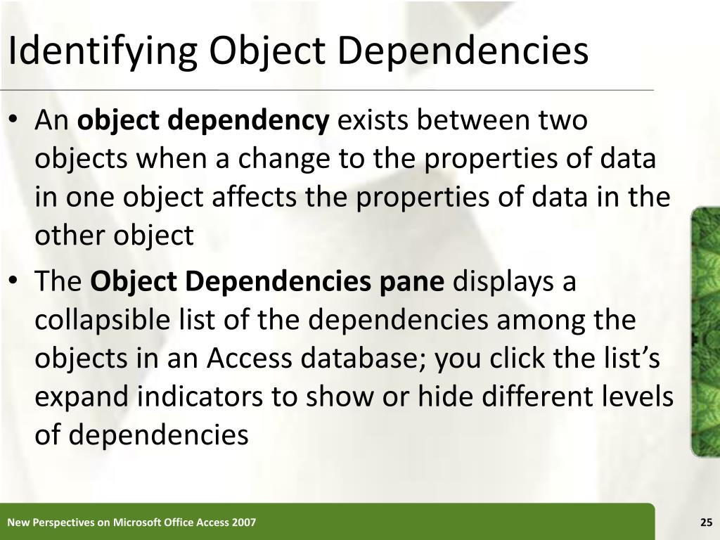 Identifying Object Dependencies