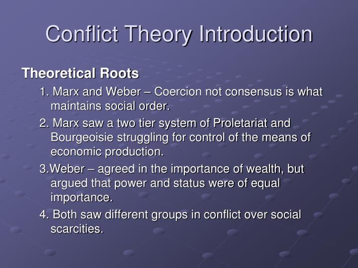 conflict theory introduction n.