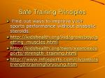 safe training principles