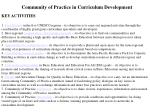 community of practice in curriculum development
