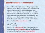 effektiv rente internrente