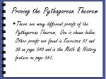 proving the pythagorean theorem1