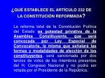 qu establece el art culo 232 de la constituci n reformada