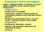 expresi n y forma de estigma